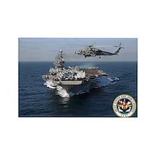USS John F. Kennedy CV-67 Rectangle Magnet