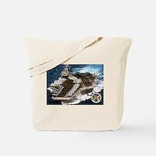 USS John F. Kennedy CV-67 Tote Bag