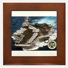 USS John F. Kennedy CV-67 Framed Tile
