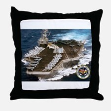 USS John F. Kennedy CV-67 Throw Pillow