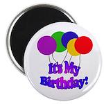 Balloons It's My Birthday Magnet