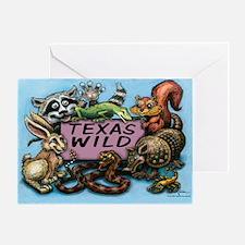 Funny Armadillo lizard Greeting Card