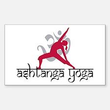 Ashtanga Yoga Rectangle Decal