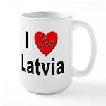 I Love Latvia Large Mug