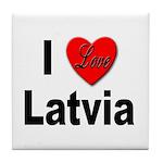 I Love Latvia Tile Coaster