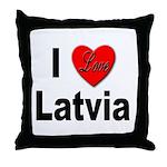 I Love Latvia Throw Pillow
