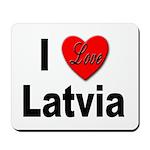 I Love Latvia Mousepad