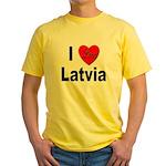I Love Latvia Yellow T-Shirt
