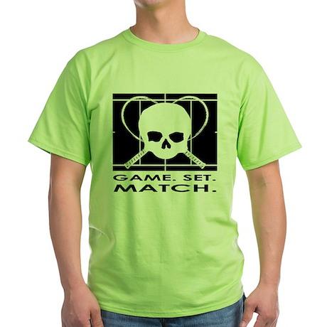 Game Set Match Green T-Shirt Game Set Match T-Shirt   CafePress.com