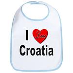 I Love Croatia Bib