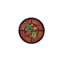 Celtic Autumn Leaves Mini Button