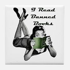 Banned Books Tile Coaster