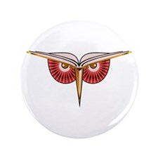 "Book Owl 3.5"" Button (100 pack)"