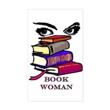 Book Woman Rectangle Decal