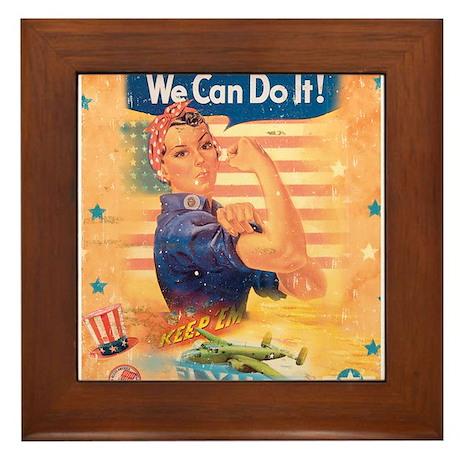 Rosie the Riveter Framed Tile