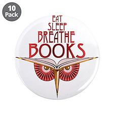 """Eat Sleep 3.5"""" Button (10 pack)"""