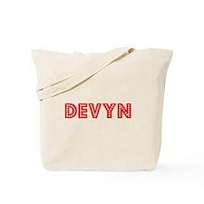 Retro Devyn (Red) Tote Bag
