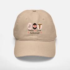 Peace Love Pathology Baseball Baseball Cap