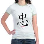 Samurai Loyalty Kanji Jr. Ringer T-Shirt