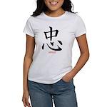 Samurai Loyalty Kanji (Front) Women's T-Shirt