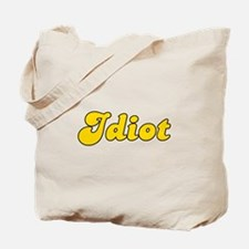Retro Idiot (Gold) Tote Bag