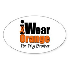 Leukemia (Brother) Oval Sticker (10 pk)