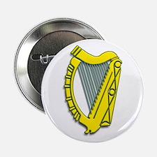 "Celtic, Gaelic, Irish Harp 2.25"" Button"