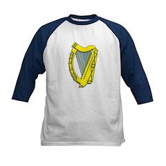 Celtic, Gaelic, Irish Harp Kids Baseball Jersey