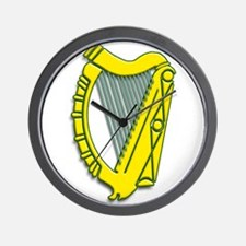 Celtic, Gaelic, Irish Harp Wall Clock