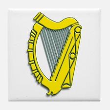 Celtic, Gaelic, Irish Harp Tile Coaster