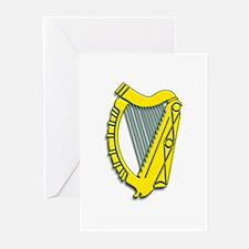 Celtic, Gaelic, Irish Harp Greeting Cards (Pk of 1
