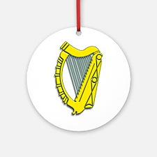 Celtic, Gaelic, Irish Harp Ornament (Round)