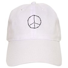 Barbed Wire Peace Sign Baseball Cap