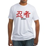 Samurai Ninja Kanji Fitted T-Shirt