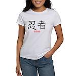 Samurai Ninja Kanji (Front) Women's T-Shirt