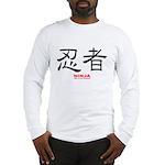 Samurai Ninja Kanji (Front) Long Sleeve T-Shirt