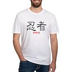 Samurai Ninja Kanji (Front) Fitted T-Shirt