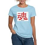 Samurai Soul Kanji Women's Pink T-Shirt
