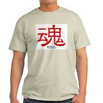 Samurai Soul Kanji Ash Grey T-Shirt
