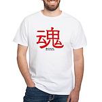 Samurai Soul Kanji White T-Shirt