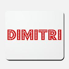 Retro Dimitri (Red) Mousepad