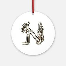 """""""N"""" - Celtic Letters Keepsake (Round)"""