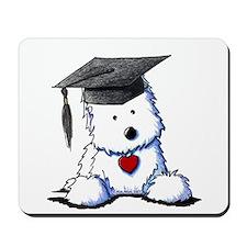 Westie Graduate Mousepad