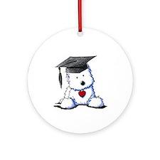 Westie Graduate Ornament (Round)