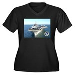 USS Constellation CV-64 Women's Plus Size V-Neck D