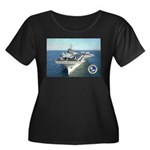 USS Constellation CV-64 Women's Plus Size Scoop Ne