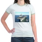 USS Constellation CV-64 Jr. Ringer T-Shirt