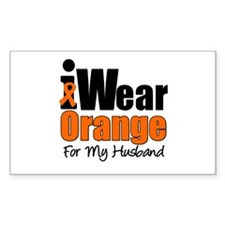 Leukemia Ribbon Rectangle Sticker 10 pk)