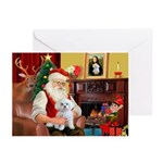 Santa's Maltese (#11) Greeting Cards (Pk of 20)