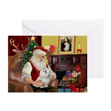 Santa's Maltese Greeting Cards (Pk of 10)